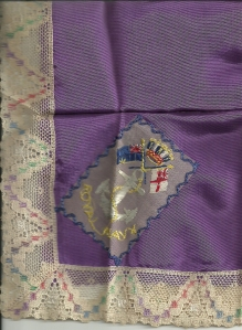 Royal Navy crested hanky